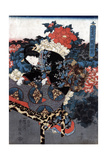 Japan: Woman in Garden Giclee Print by Utagawa Kunisada II