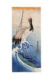 Hiroshige: Crane, C. 1834 Giclee Print by Ando Hiroshige