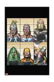 Infinity: Heist 4 Cover: Whiplash, Spymaster, Titanium Man, Whirlwind, Unicorn, Firebrand Posters by Al Barrionuevo