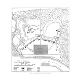 Savannah Siege Map, 1779 Giclee Print