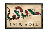 Join or Die Cartoon, 1754 Giclee Print