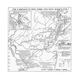 Revolutionary War Map, 1776 Giclee Print