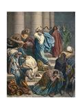 Christ at the Temple Reproduction giclée Premium par Gustave Doré