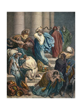 Christ at the Temple Premium Giclee Print by Gustave Doré