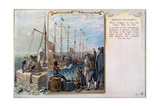Boston Tea Party, 1773 Giclee Print by Daniel Chodowiecki