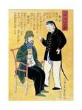 Japan: Foreigners, C. 1861 Giclee Print by Utagawa Yoshiiku