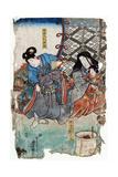 Yoshitsune and Yoritomo Giclee Print by Toyokuni Utagawa