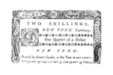 New York Banknote, 1776 Giclee Print