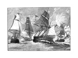 Battle of Virginia Capes Giclee Print