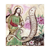 Jesus and Serpent Giclee Print