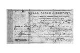 Stagecoach Ticket, 1868 Giclee Print