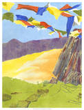 Prayer Flags III Giclee Print by Carolyn Roth
