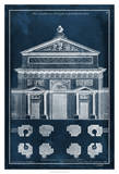 Palace Facade Blueprint I Giclee Print by Vision Studio