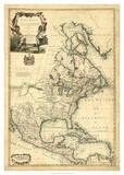 Antique Map of America III Giclee Print