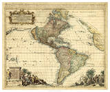 Antique Map of America II Giclee Print