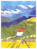 Prayer Flags VI Giclee Print by Carolyn Roth