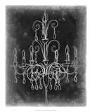 Chalkboard Chandelier Sketch II Giclee Print by Ethan Harper