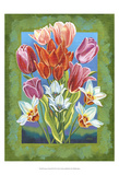 Bouquet in Border III Posters by Carolee Vitaletti