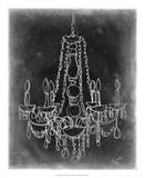 Chalkboard Chandelier Sketch I Giclee Print by Ethan Harper