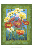 Bouquet in Border I Posters by Carolee Vitaletti