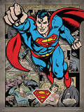 Superman - Comic Montage Poster Masterprint