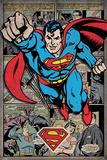 Superman - Comic Montage Kunstdrucke