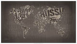 Old Fashion World Map Giclee Print by  Mikael B. Design