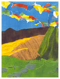 Prayer Flags I Giclee Print by Carolyn Roth