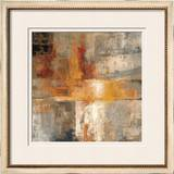 Silver and Amber Crop Framed Giclee Print by Silvia Vassileva