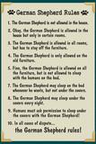 German Shepherd House Rules Humor Prints