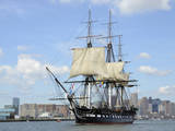 USS Constitution in the Boston Harbor Photographic Print