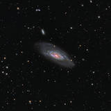 Messier 106, a Spiral Galaxy in the Constellation Canes Venatici Photographic Print