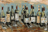 Wine Bar II Art by Heather A. French-Roussia