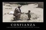 Confianza. Cita Inspiradora Y Póster Motivacional Photographic Print