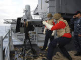 Gunner'S Mate Fires a .50-Caliber Machine Gun Photographic Print