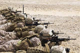 U.S. Marines Conduct a Battlesight Zero their Rifles in Al Galail, Qatar Photographic Print