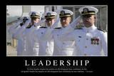 Leadership: Citation Et Affiche D'Inspiration Et Motivation Lámina fotográfica