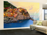 Cinque Terre Küste laminitertes Wandgemälde Wandgemälde