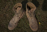 A Pair of Combat Boots Belonging to a U.S. Marine Corps Sergeant Photographic Print