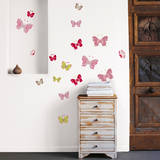 Colored Butterflies Mini Wall Decals Wall Decal