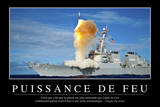 Puissance De Tir: Citation Et Affiche D'Inspiration Et Motivation Photographic Print
