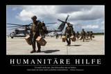 Humanitäre Hilfe: Motivationsposter Mit Inspirierendem Zitat Photographic Print