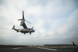 An MV-22 Osprey Is Guided onto the Flight Deck of USS Boxer Photographic Print