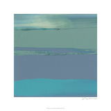 Blue Coast II Premium Giclee Print by Sharon Gordon