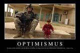 Optimismus: Motivationsposter Mit Inspirierendem Zitat Photographic Print