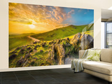 Mountain Morning Wall Mural Mural de papel de parede