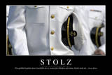 Stolz: Motivationsposter Mit Inspirierendem Zitat Photographic Print