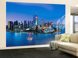 Silueta de Shanghái - Mural Mural