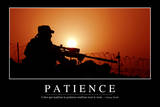Patience: Citation Et Affiche D'Inspiration Et Motivation Photographic Print