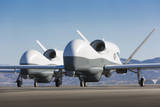 Two Mq-4C Triton Unmanned Aerial Vehicles on the Tarmac Photographic Print